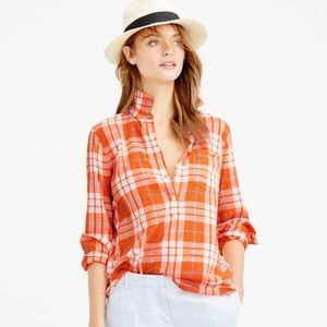 Like new J CREW plaid shirt ❤️
